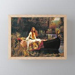 John William Waterhouse - The Lady Of Shalott - Digital Remastered Edition Framed Mini Art Print