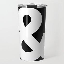 Ampersand (White & Black) Travel Mug
