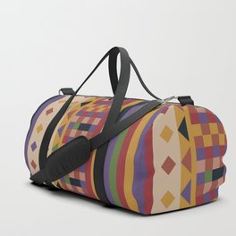 Stripes and squares ethnic pattern Duffle Bag