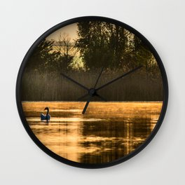 Golden morning Wall Clock