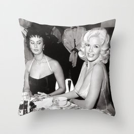 'Best Envy' Iconic Hollywood Starlet Black and White Photograph Throw Pillow