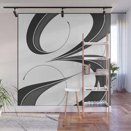 Letter Z - Script Lettering Cropped Design Wall Mural