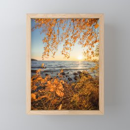 Autumn Sunrise Framed Mini Art Print
