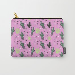 CACTUS & PINK Carry-All Pouch