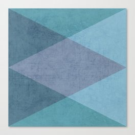 the blue triangles Canvas Print
