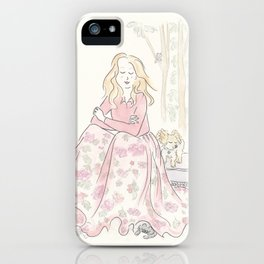 Sweet Fluffy Pomeranian and Woodland Fashion Nymph iPhone Case