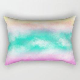 Fruity Cloudscape - grape purple, aqua green & citrus yellow skyscape Rectangular Pillow