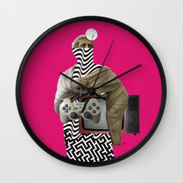 Statue statically PinkMan v2 Wall Clock