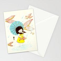 장마   Rainy Season Stationery Cards