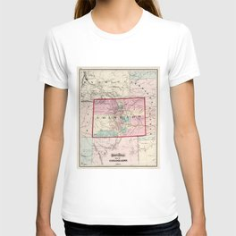 Vintage Map of Colorado (1873) T-shirt