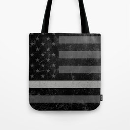 Thin Silver Line Flag Tote Bag