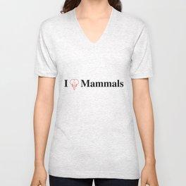 I Heart Mammals Unisex V-Neck