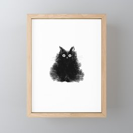 Duster - Black Cat Drawing Framed Mini Art Print