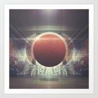spaceship Art Prints featuring Spaceship by nois7