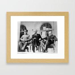 The Big Three - WW2 - Tehran Conference 1943 Framed Art Print