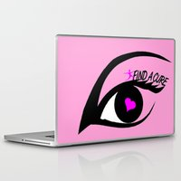 the cure Laptop & iPad Skins featuring Find a Cure by Geni
