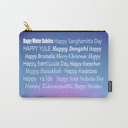Happy Holidays Sunrise Carry-All Pouch