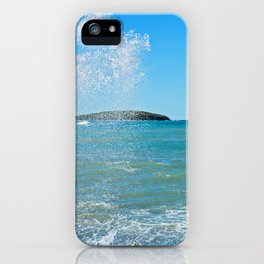 Big wave on the blue sea iPhone Case