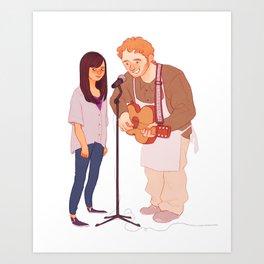 Andy & April Art Print