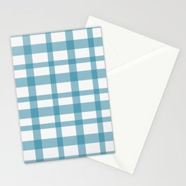Blue checkered Stationery Cards