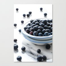Bowl of Blueberries Canvas Print