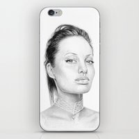 angelina jolie iPhone & iPod Skins featuring Angelina Jolie  by Olechka