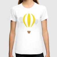 hot air balloon T-shirts featuring Hot Air Balloon Illustration by Rachel J