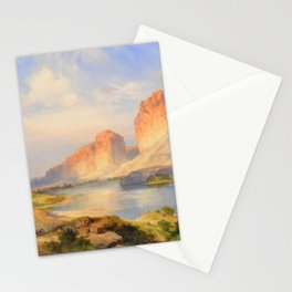 Red Sandstone Cliffs of the Upper Colorado River (Green River, Wyoming) landscape by Thomas Mann Stationery Cards