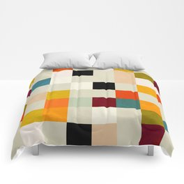 modern mid century chequers Comforters