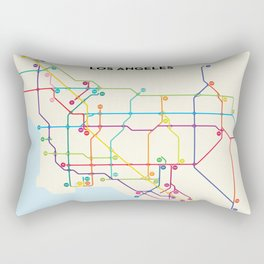 Los Angeles Freeway System Rectangular Pillow