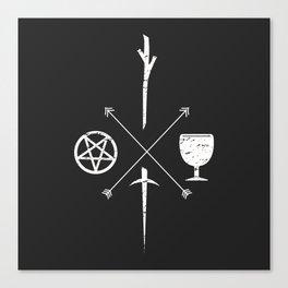 Tarot Symbols Canvas Print