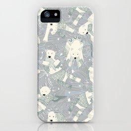 arctic polar bears silver iPhone Case