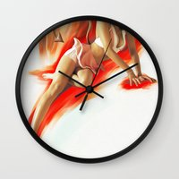daisy Wall Clocks featuring Daisy by Daniel Couto
