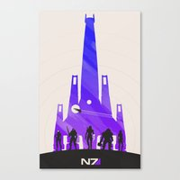 mass effect Canvas Prints featuring Mass Effect by Noble-6
