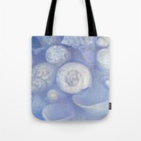 shells Tote Bags featuring shells by Claudia Drossert