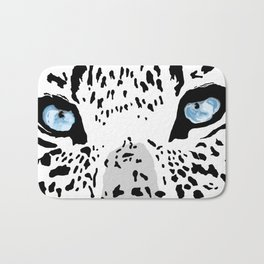 The blues; leopard. Bath Mat