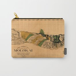 Map Of Molokai 1897 Carry-All Pouch