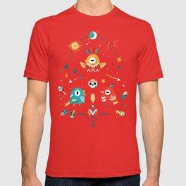 Strange Bird Pattern T-shirt