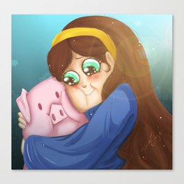 Mable and Waddles Canvas Print