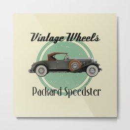 Vintage Wheels - Packard Boattail Speedster Metal Print