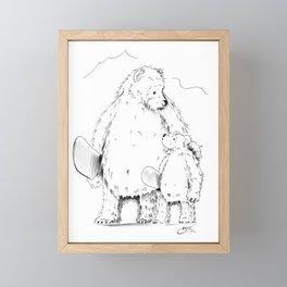 Thanks Poppa Bear Framed Mini Art Print