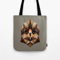 hawk Tote Bags featuring Hawk by KUI29
