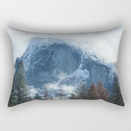 Ice-capped Half Dome at Sunrise | Yosemite National Park, California Rectangular Pillow