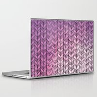 herringbone Laptop & iPad Skins featuring Herringbone by Tooth & Nail Designs