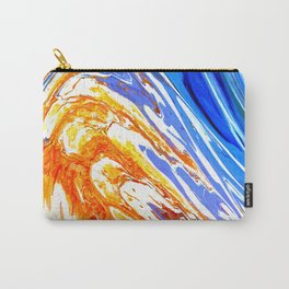Riding the Wave of Orange Emotion; Fluid Abstract 53 Carry-All Pouch