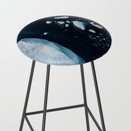 Silent Ice Bergs from above Bar Stool
