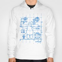 blueprint Hoodies featuring Baymax Blueprint by SamyyChang