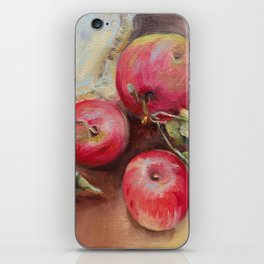 RED APPLES on the table Classic Still life Painting iPhone Skin