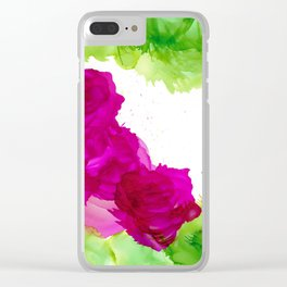 Windswept Roses Clear iPhone Case