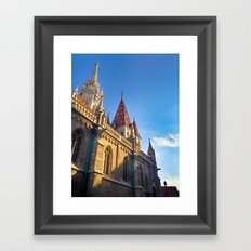 CITY PHOTOGRAPHY - BUDAPEST Matthias Church Framed Art Print